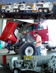 concrete mixer truck and pump restoration