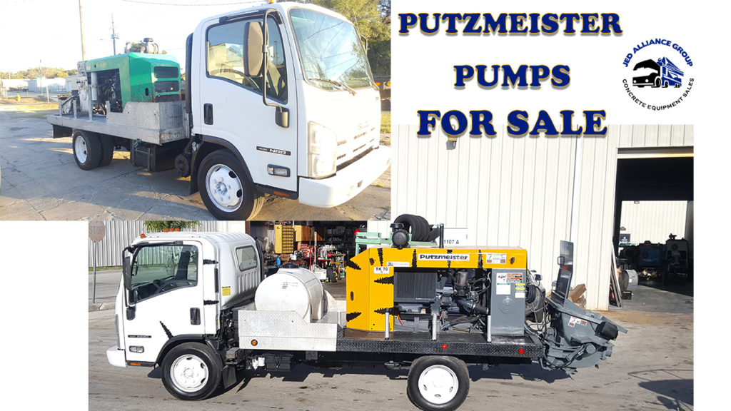 USED CONCRETE PUMPS FOR SALE PUTZMEISTER