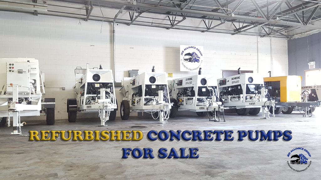 REFURBISHED CONCRETE PUMPS FOR SALE