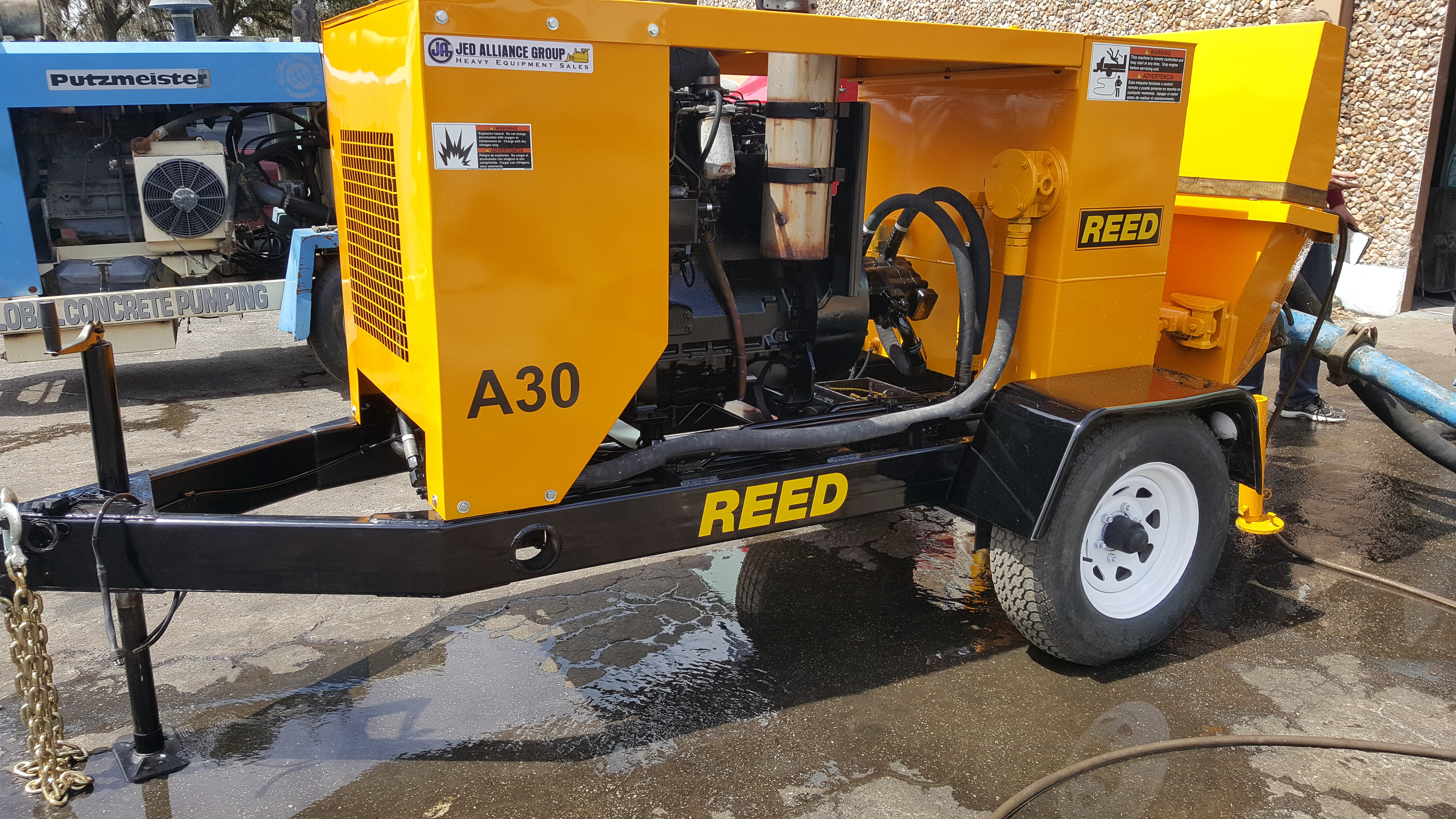 Reed concrete pump for sale | 2002 REED A30 #1819 fully restored pump