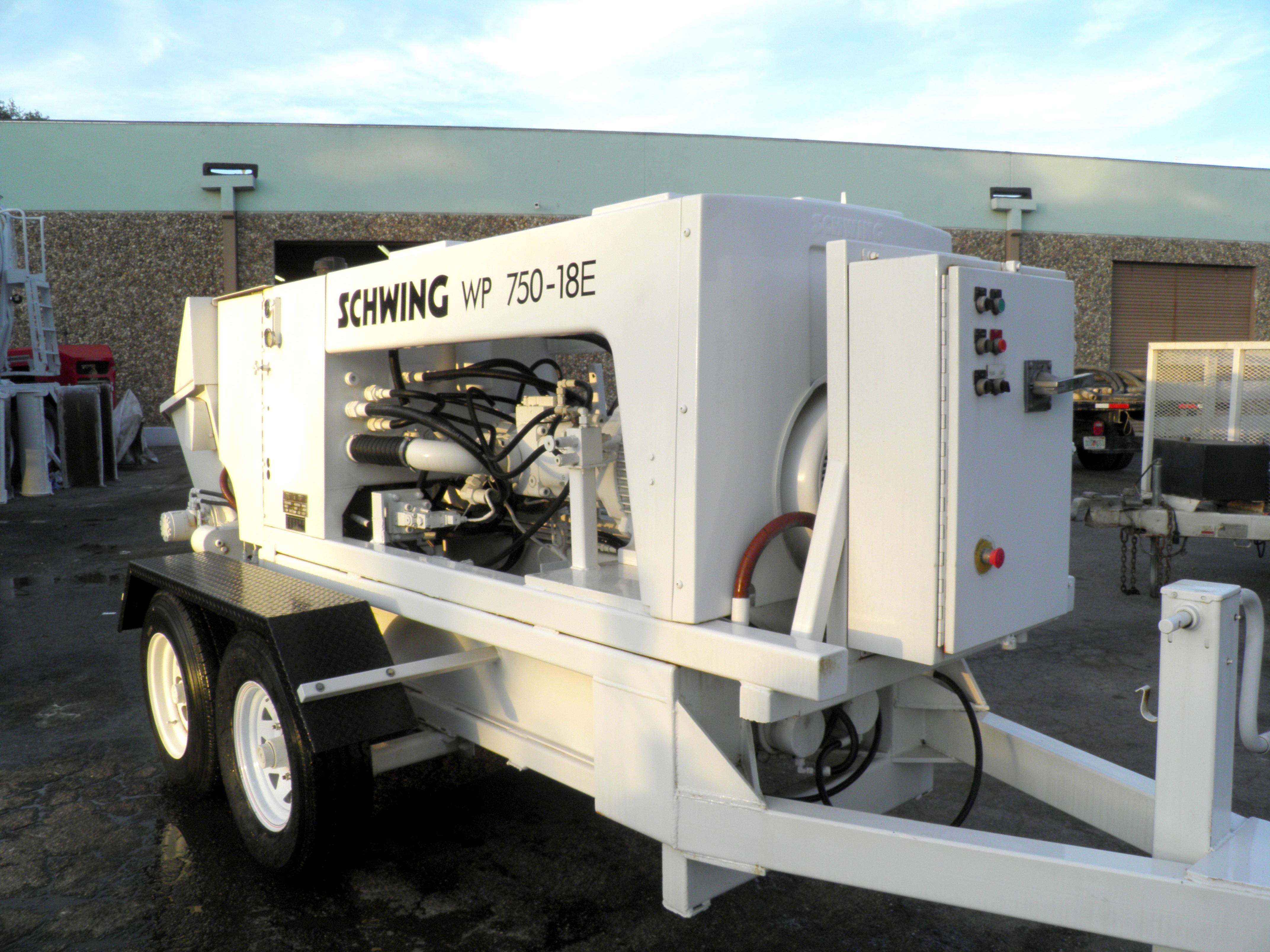 Electric Concrete Pump For Sale 2005 Schwing Wp750 18e 2425
